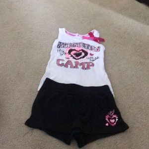 Gymnastics camp matching outfit. Justice size 6/7